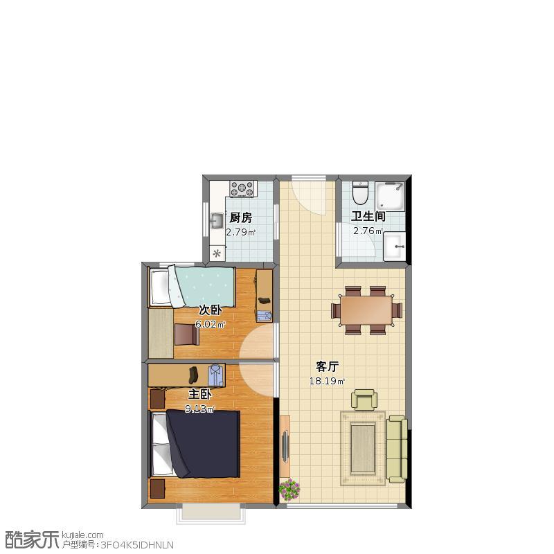 户型设计 中南世纪城1-副本  山东 青岛 未知小区 套内面积:38.