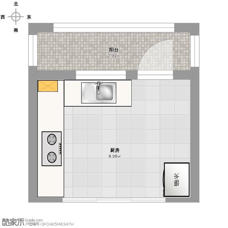 户型平面家具灶台素材