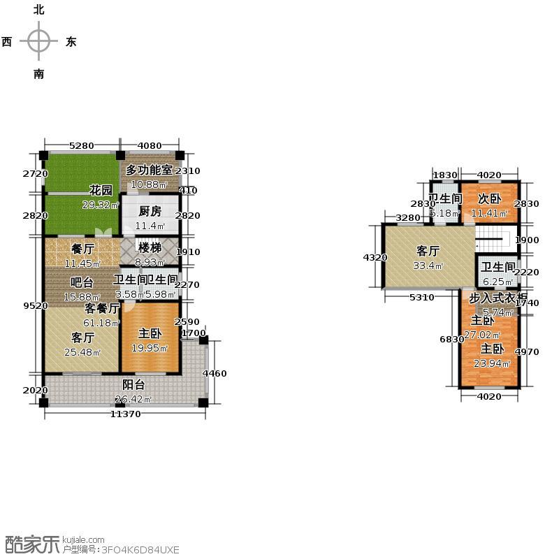 户型设计 绿地内森庄园  安徽 合肥 绿地内森庄园 套内面积:248.