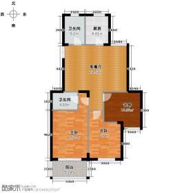青春都市公寓118.98㎡2-3-01户型3室1厅2卫1厨
