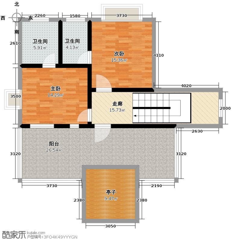 汇锦城104.77㎡半山半岛4-3-3-1户型2室2卫