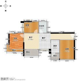 中惠金士柏山79.50㎡花园户型1室1厅1卫1厨