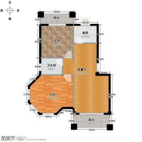 融侨观邸78.03㎡户型2室1厅1卫1厨