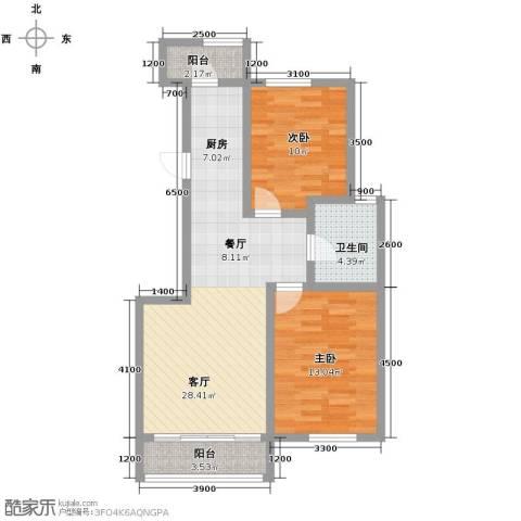 82.00㎡I户型2室2厅1卫-副本