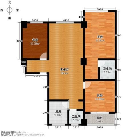 合鑫广场141.00㎡17号楼2单元202户型3室1厅2卫1厨-副本