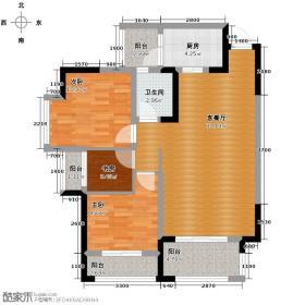 中国铁建青秀城90.00㎡一期B7户型3室1厅1卫1厨