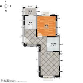 小镇西西里72.19㎡四期B3-户型10室