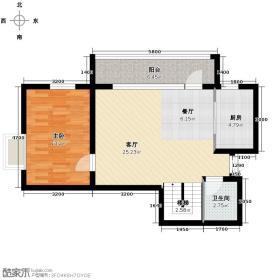 阳光100东方海63.14㎡艺墅空间标准层户型10室