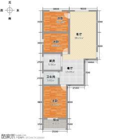 馨地苑98.85㎡户型10室