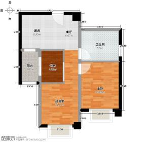 绿地公馆67.91㎡G2+户型2室1厅1卫