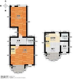 鹤巢居87.01㎡E一、二层户型10室