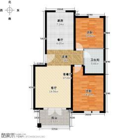 绿城・百合公寓94.70㎡户型10室