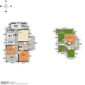 泰和欧城118.98㎡一期B跃层户型3室1厅2卫1厨
