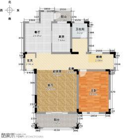 钟鼎山庄118.98㎡B型三层户型1室1卫1厨