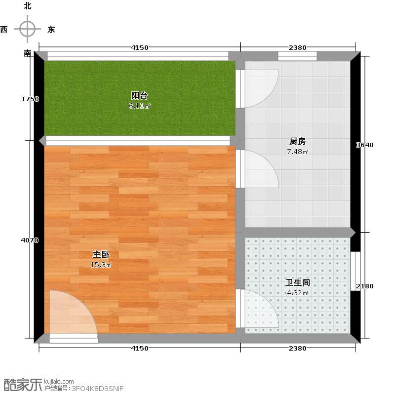 南天门休闲旅游度假区37.82㎡15号楼d户型1室1卫1厨