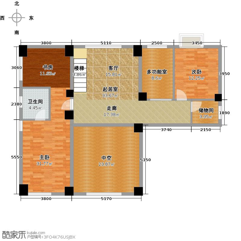 大洲国际龙郡手绘-ad二层户型2室1卫