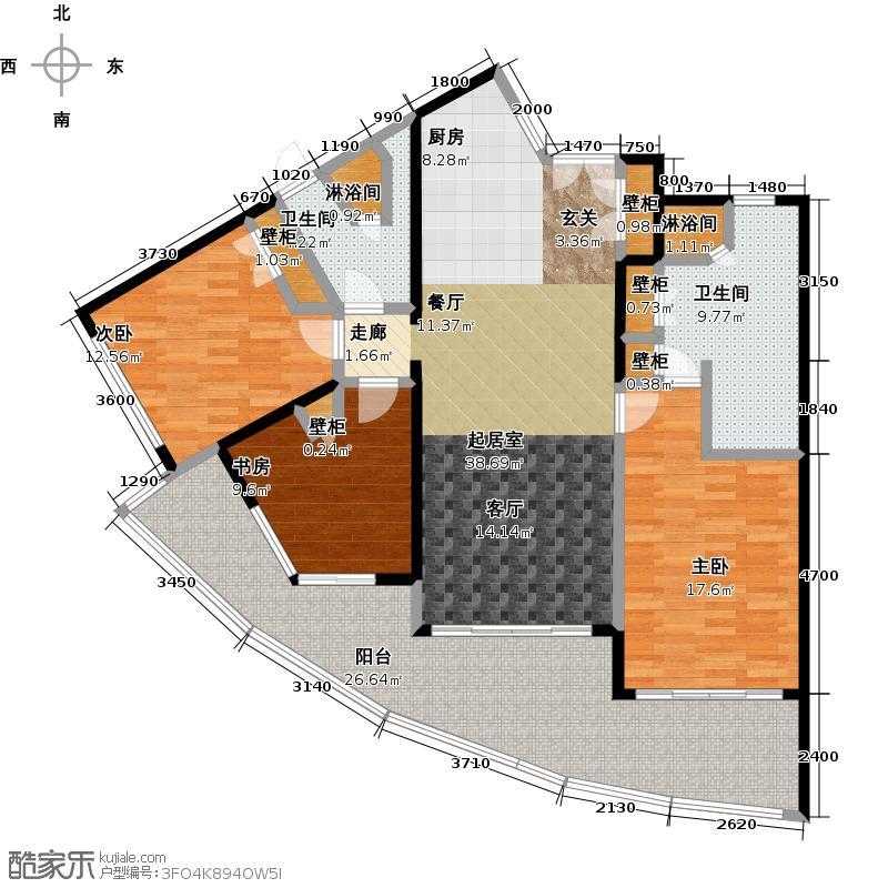 中信泰富神州半岛星悦海岸2期户型3室2卫