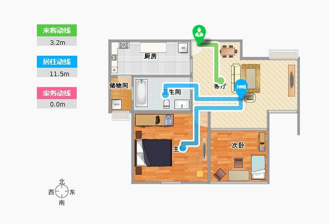 闵行浦江瑞和城b2房型改造