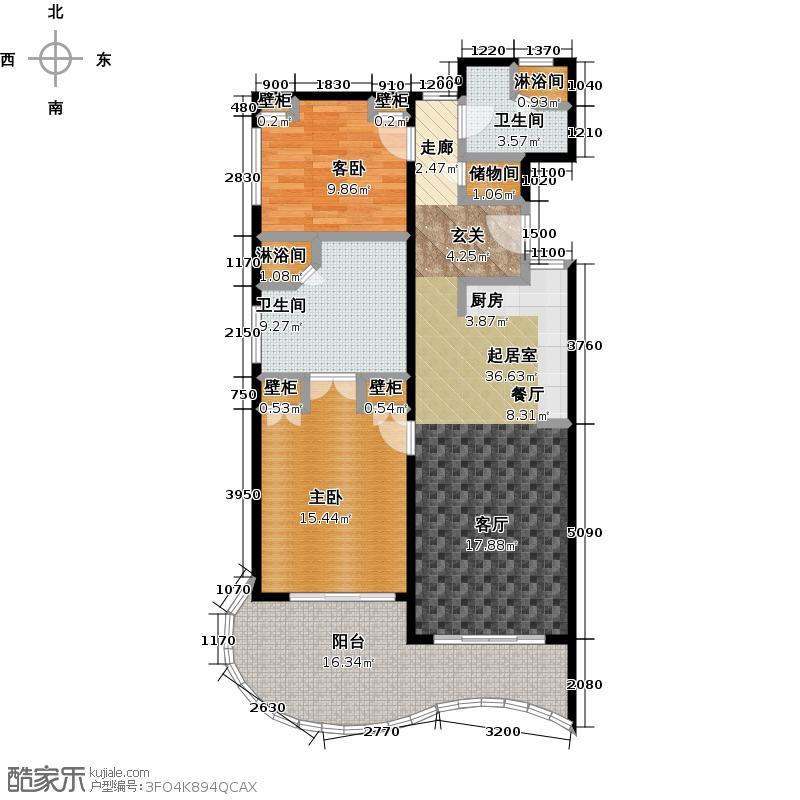中信泰富神州半岛星悦海岸2期户型2室2卫