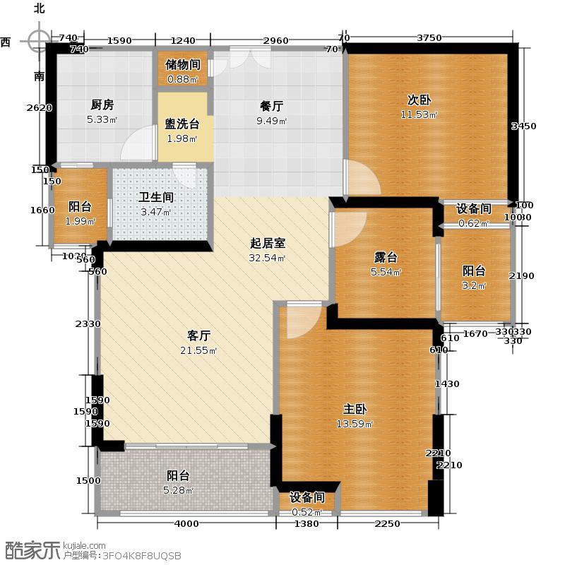 常州红星国际广场99.52㎡b5#楼99.52平米a2户型3室2厅