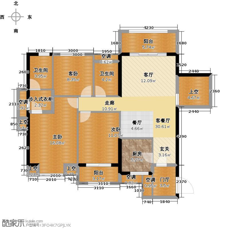 户型设计 融侨观澜120平米 三房两厅两卫户型3室2厅2卫  建筑面积:150