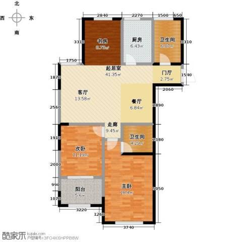 云厦阳光福邸103.00㎡K户型3室2厅2卫-副本