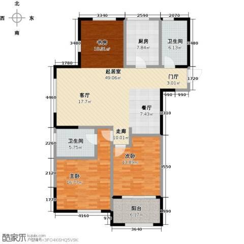 云厦阳光福邸118.00㎡B户型3室2厅2卫-副本