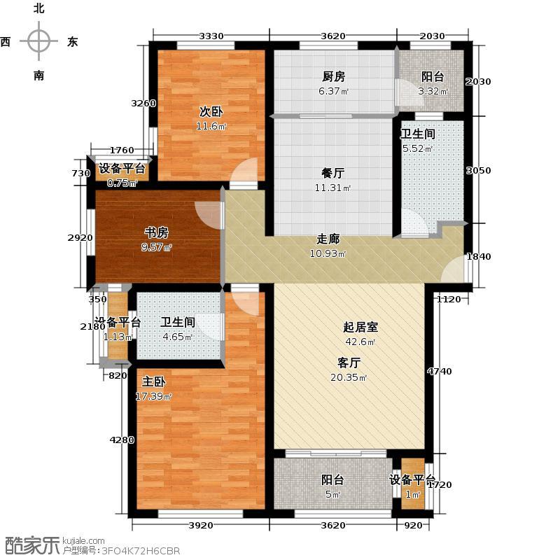 户型设计 世茂公园美地  山东 青岛 世茂公园美地 套内面积:108.