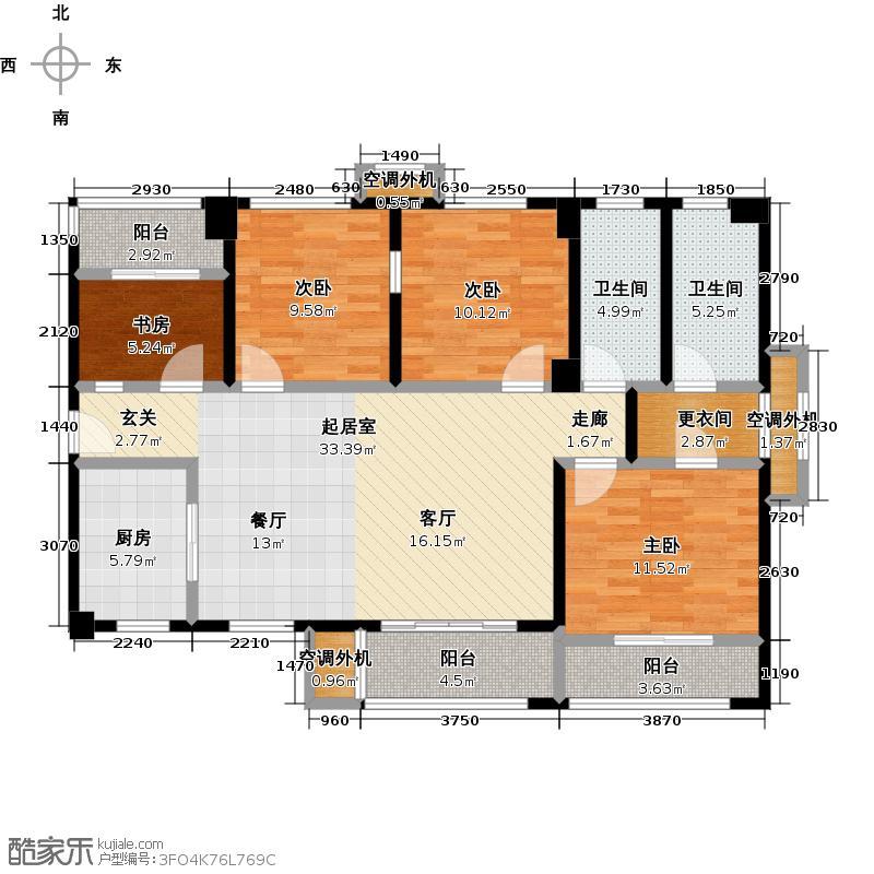 四房两厅两卫户型4室2厅2卫  福建 厦门 联发欣悦湾 建筑面积:120平方