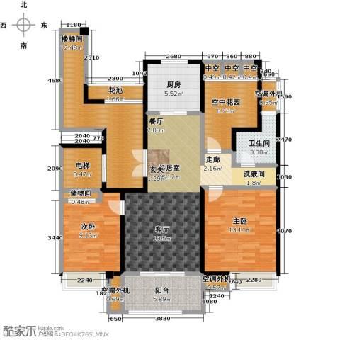 新创玉山广场113.00㎡小高层户型3室2厅1卫-副本