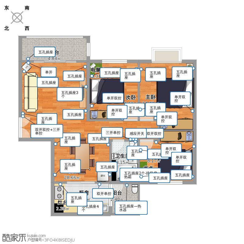 1604电路图户型图大全,装修户型图,户型图分析,户型图