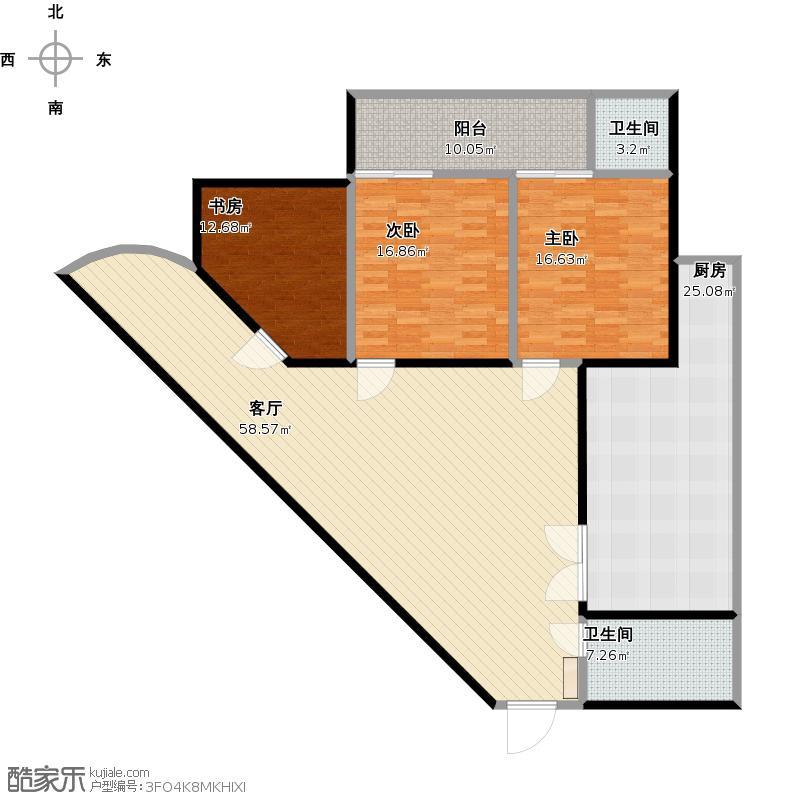 二电厂的三角形客厅房164户型图大全,装修户型图,户型
