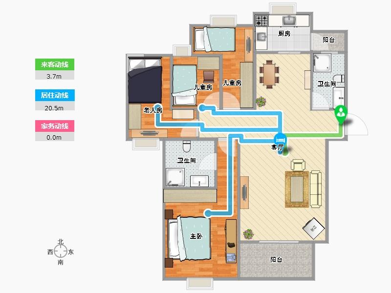 双儿童房设计4+2
