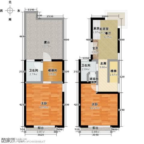 山水路8号89.79㎡美钻新贵B户型2室1厅2卫-副本