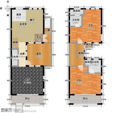 山水路8号151.95㎡C户型闪耀世家C户型2室2厅3卫-副本