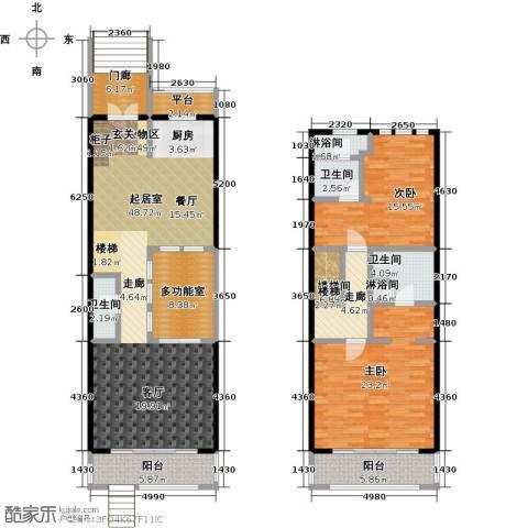 山水路8号163.72㎡皇冠明廷E户型2室2厅户型2室2厅3卫-副本