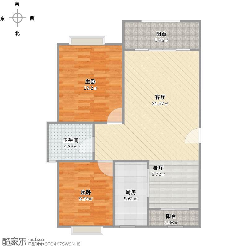 户型设计 w南洋瑞都别墅  上海 南洋瑞都 套内面积:71.