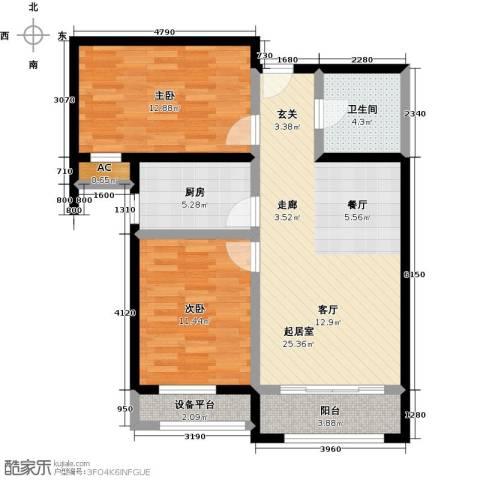 怡水公馆2室2厅1卫户型2室2厅1卫-副本