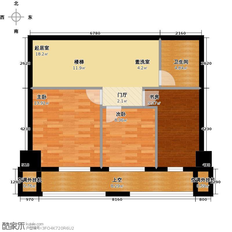 万科金库住宅二层户型3室1卫