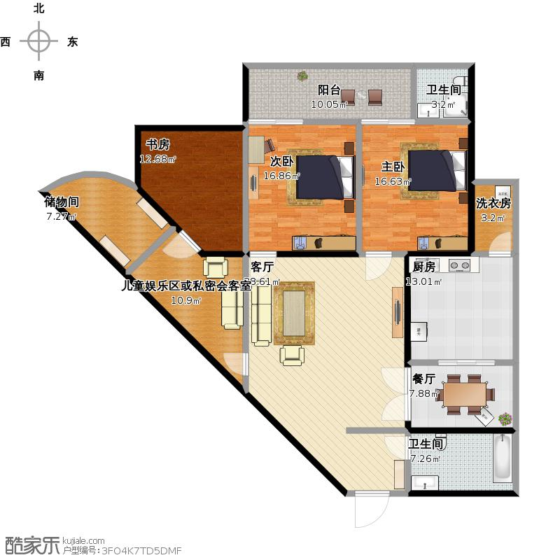 完全无法设计下去了.求帮助!三角形客厅怎么办!图片