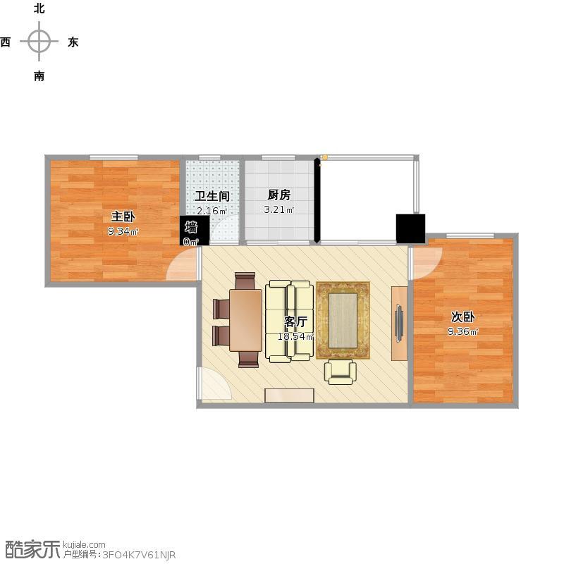 小户型二室一厅的效果图