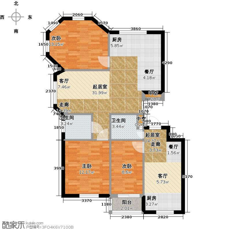 金湾又一城(一期)三室二厅一卫