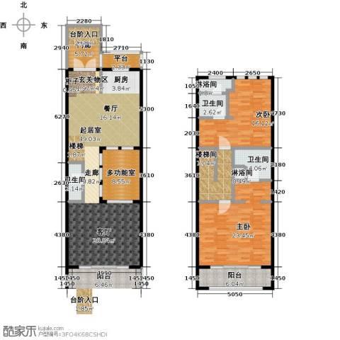 山水路8号163.72㎡山水路8号皇冠明廷E户型2室2厅3卫-副本