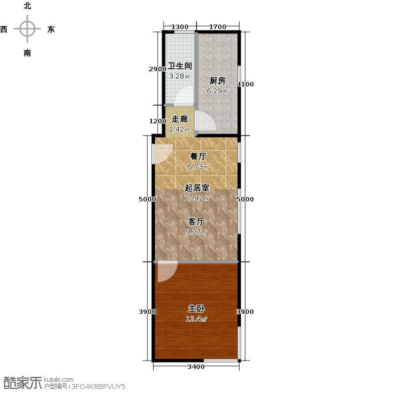 两室两厅一卫设计图展示图片