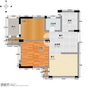嘉丽阳光广场84.00㎡C户型2室2厅1卫