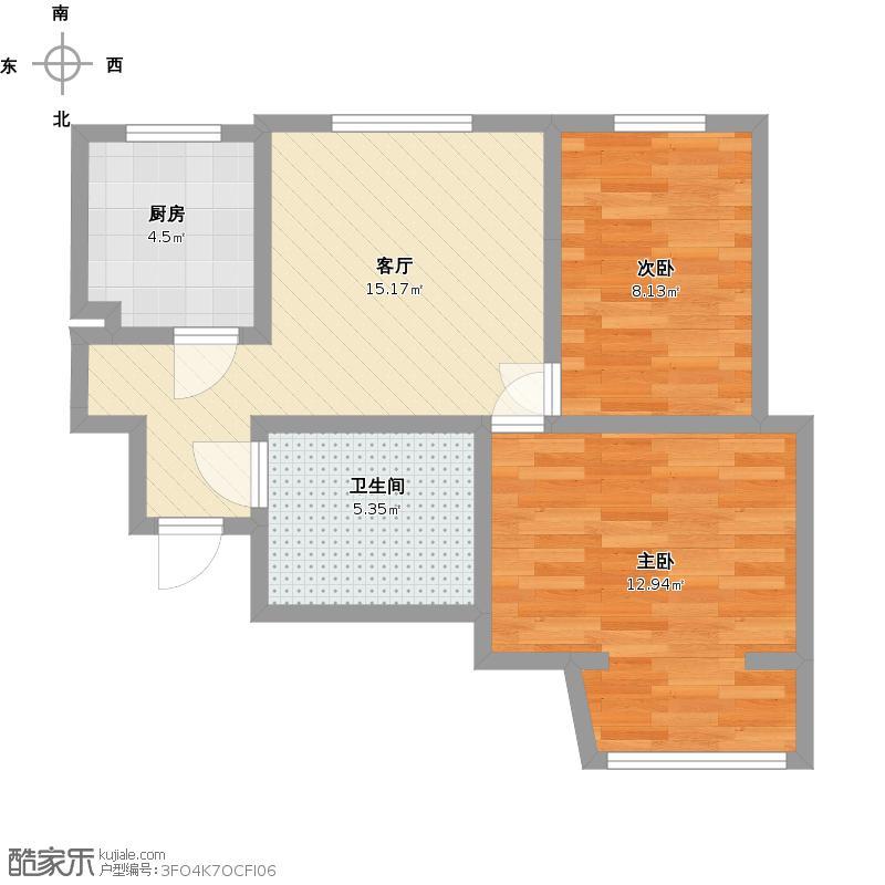 73平米二室一厅户型图大全,装修户型图,户型图分析,图