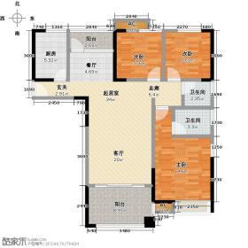 金典凯信商业广场112.09㎡C5户型3室2厅2卫LL