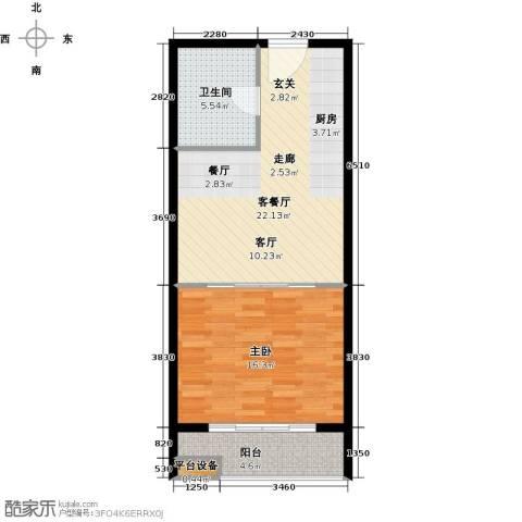 中翔丽晶55.00㎡高层标准户型2室2厅1卫-副本