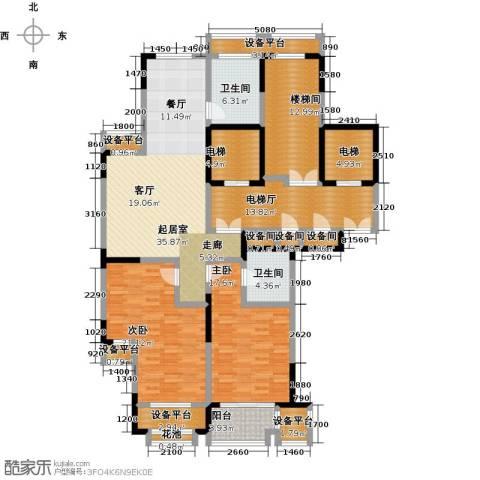 唐宁府131.00㎡阔景高层A户型3室2厅2卫-副本