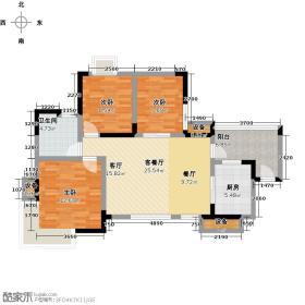 锦泰金樽户型3室1厅1卫1厨